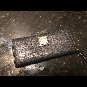 Dooney & Bourke Black Pebble Wallet